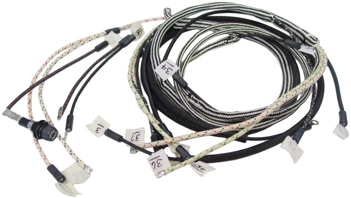 140harness_237878 farmall b, bn wiring harness wiring harnesses farmall parts ford tractor wiring harness connectors at nearapp.co