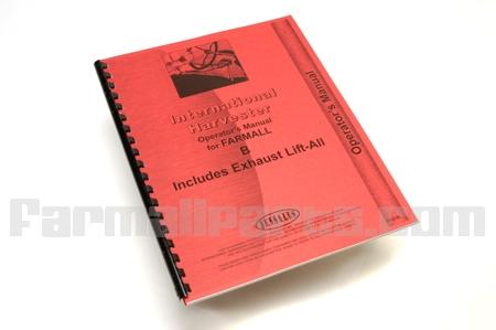 Manual, Operators  IH Farmall  B, BN incl. Lift-All