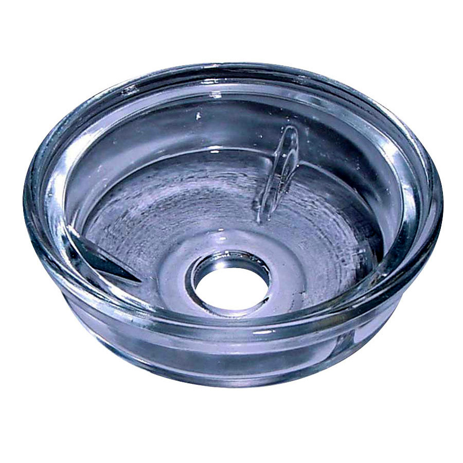 International Harvester Fuel Bowl glass Rounded type bottom bowl for CAV type fuel filters #296 and #796. 3 5/8