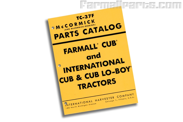 Parts Manual IH Cub, Cub Lo-Boy