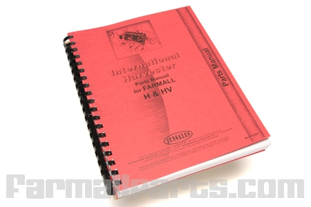 Operators Manual, Farmall  H, HV