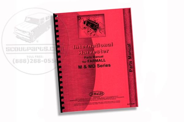 Parts Manual IH M, MD, MDV, MV