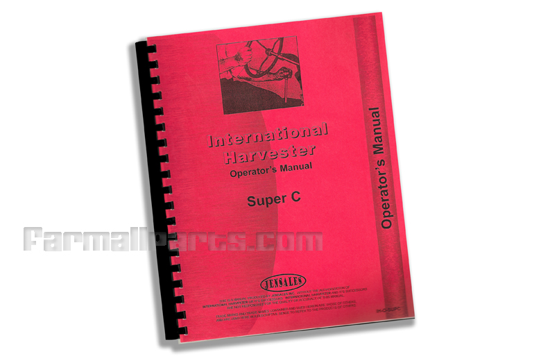 Operators Manual IH Super C