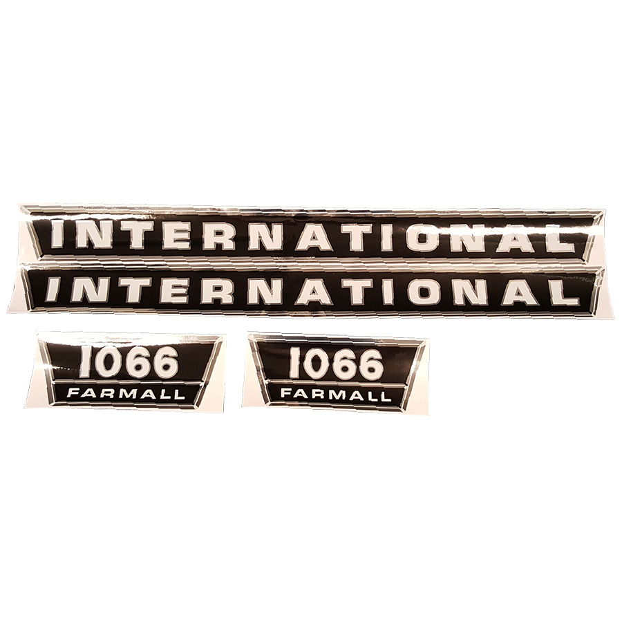 International Harvester Decal Set 1066 International Harvester Hood Decal Kit