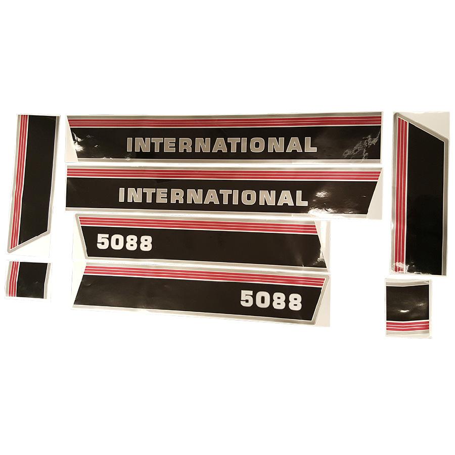 International Harvester Decal Set 5088 International Hood Decal Kit