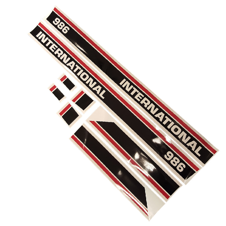 International Harvester Decals And Stickers : International harvester decal set red stripe kit