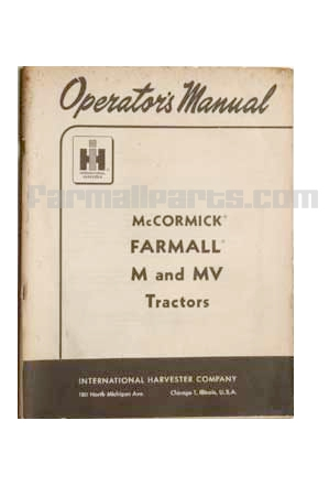 IH MANUAL-McCormick Farmall M and MV Tractors