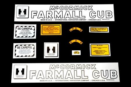 Decal Set - Farmall Cub