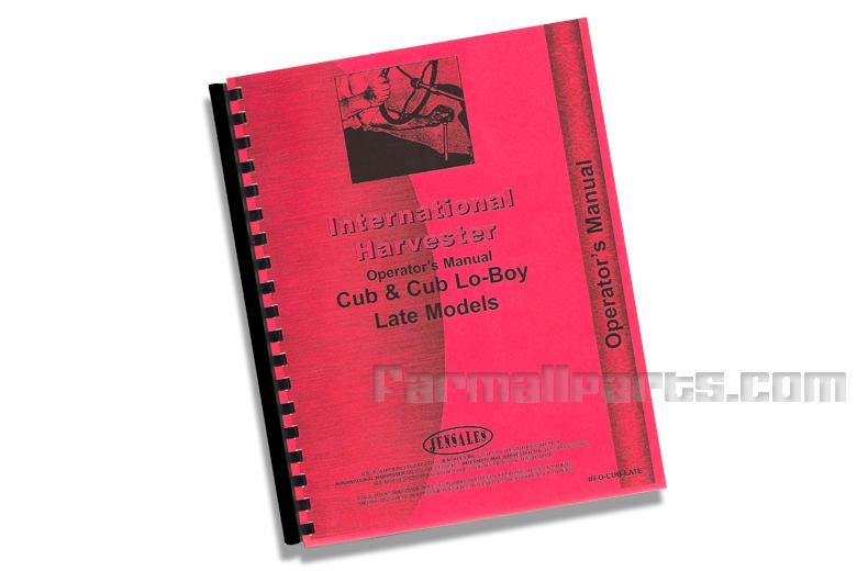 Cub & Cub Lo-Boy Operator's Manual -