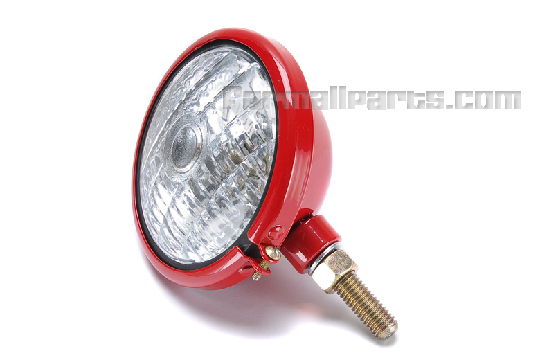 Six Volt Tractor Lights : Volt work light glossy red headlight ignition and