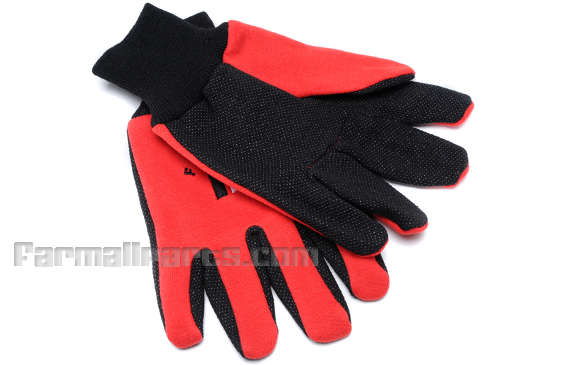 Farmall Gloves - Rubberized Dotted Palm with Two-Toned Red & Black