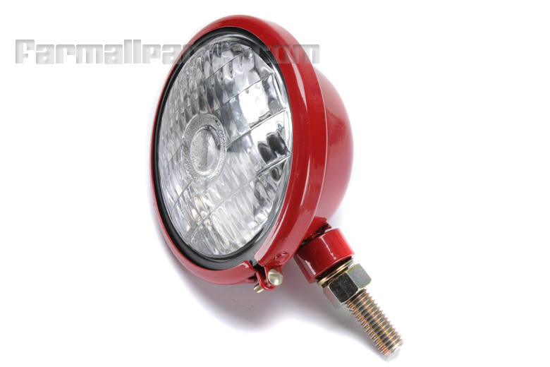 Worklight Head light Glossy red 6 volt Ignition and