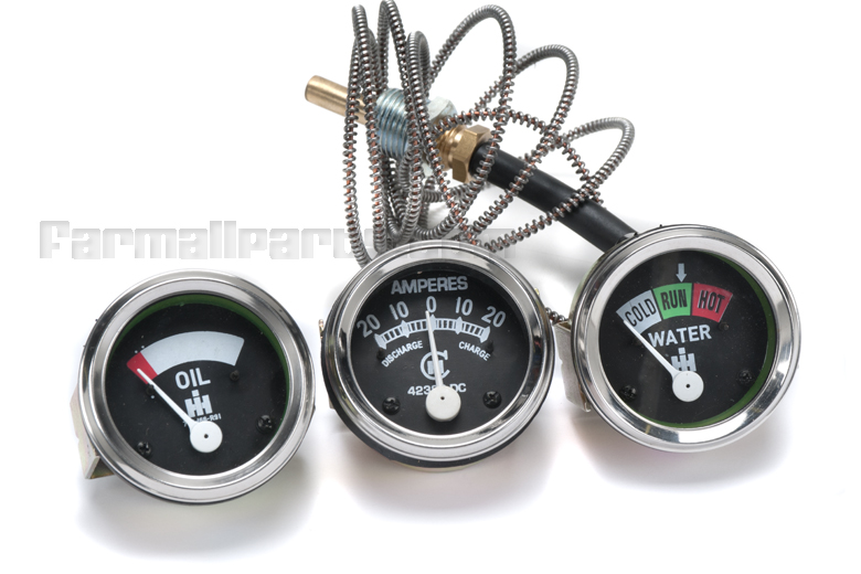 Farmall M Tractor Gauges : Three gauge kit for farmall tractors h m w sh sm smd