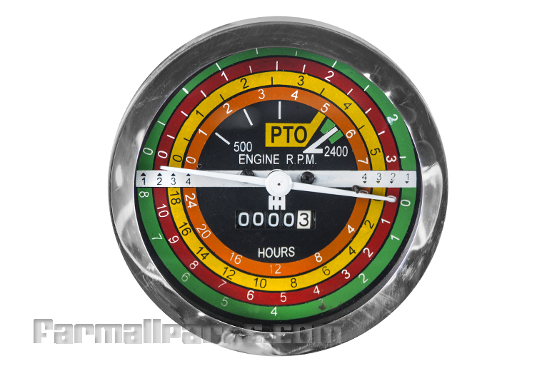 Tractor Hour Meter Gauges : Tachometer hour meter new farmall series