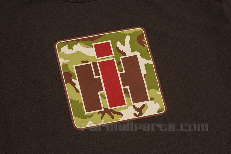 Camo - IH logo on Brown T Shirt, two left call for availability