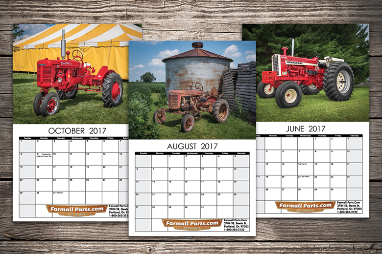 2017 Farmall Calendar -