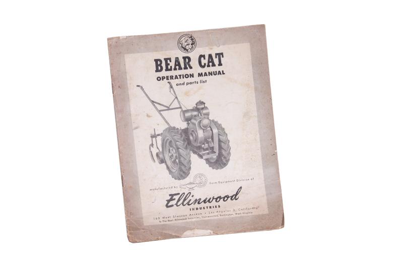 Bear Cat Operation manual