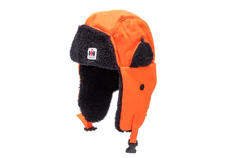 Blaze Orange IH Trapper hat