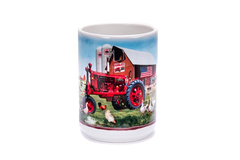 Barnyard Farm Scene Farmall Mug