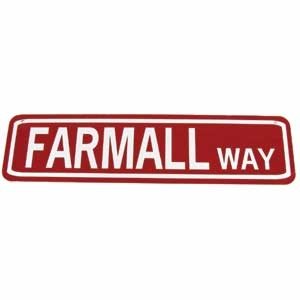 Farmall Way Sign White on Red