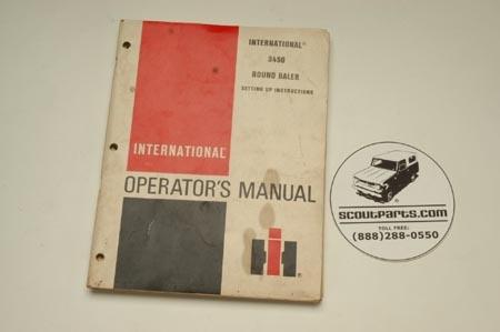 Operators Manual - 3450 Round Baler