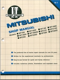 Shop Manual Mitsubishi MT160, MT160D