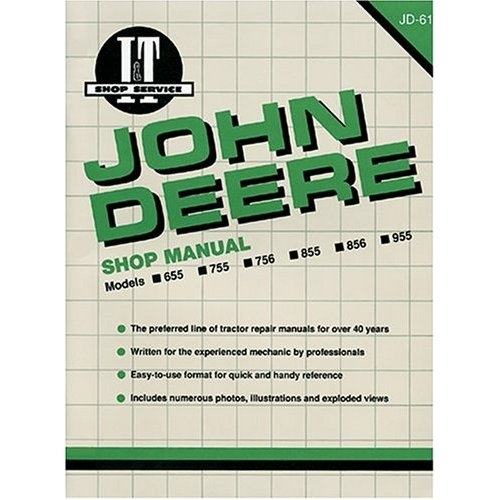 Shop Manual John Deere 655,755,756,855,+ 32586303