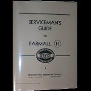 SERVICEMAN'S GUIDE FOR FARMALL (H)      31359303
