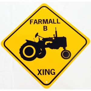 Farmall Xing Sign -discontinued