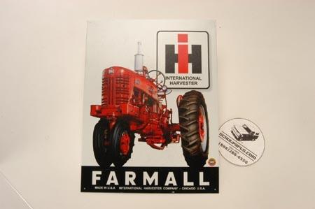 Farmall Tractor sign