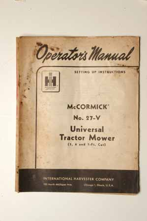IHMANUAL  No.27-V Universal Tractor Mower