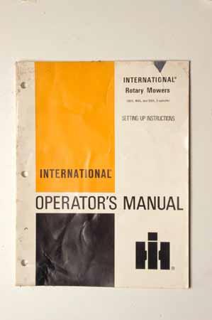 rotary mowers Operators manual