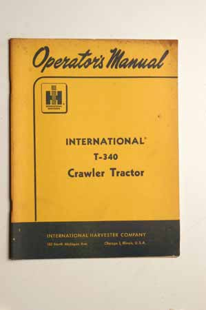 Operators manual-International T-340 Crawler Tractor