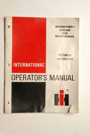IH operators manual.-Set up instructions-for International 3104 and 3106 rotary mowers