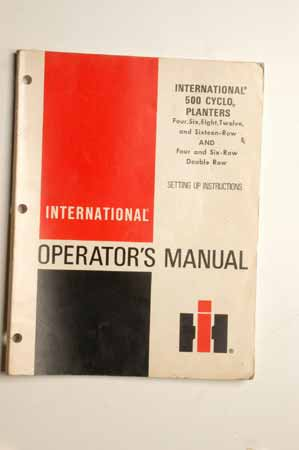 IH Operator's MANUAL international 500 Cyclo Planters