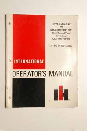 IH Operator's Manual - International 720 Moldboard Plow