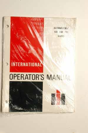 IHMANUAL---074 Operator's Manual International 435 balers