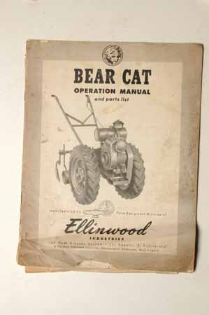 Bear Cat Operation manual Ellinwood Industries