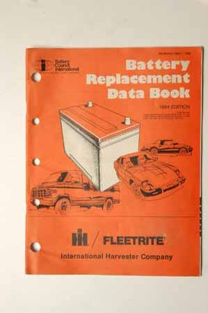 Battery  Replacement Data Book Fleetrite