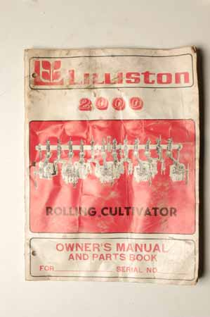 Lilliston Rulling cultivator Owner's Manual