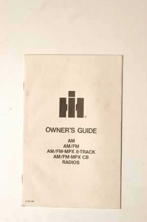 Owner's guide for radios AM FM and 8- track