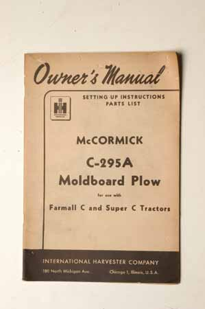 McCormick C-295A moldboard Plow
