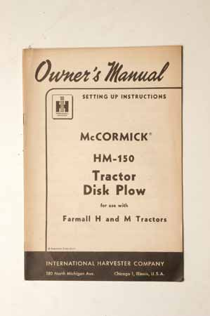 McCormick HM-150 Tractor disk Plows