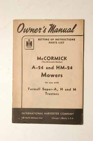 McCormick A-23 and HM-24 Mowers