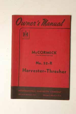 McCormick No.52-R harvester thresher