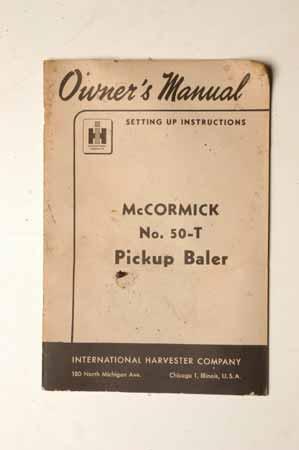McCormick No.50T Pickup Baler