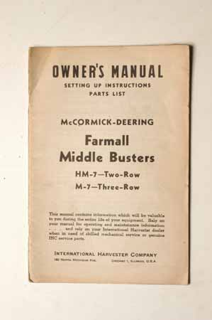 Farmall Middle Busters parts list  IHMANUAL---198