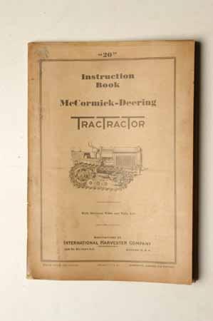 Owner's Manual McCormick- Deering TractTracTor