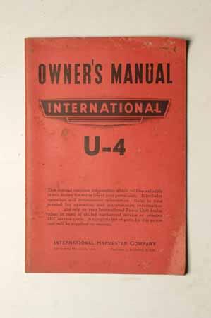 International U-4 Owner's manual