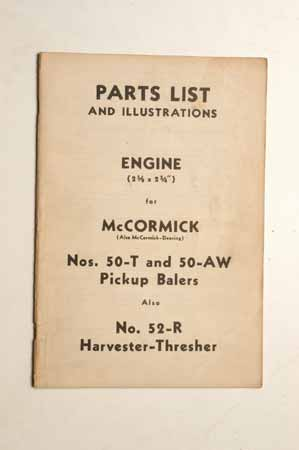 McCormick no. 50-Tand 50-AW Pickup Balers and No. 52-Rharvester-Thresher